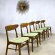 Deense eetkamerstoelen Danish design vintage dinner chairs Farstrup Møbler