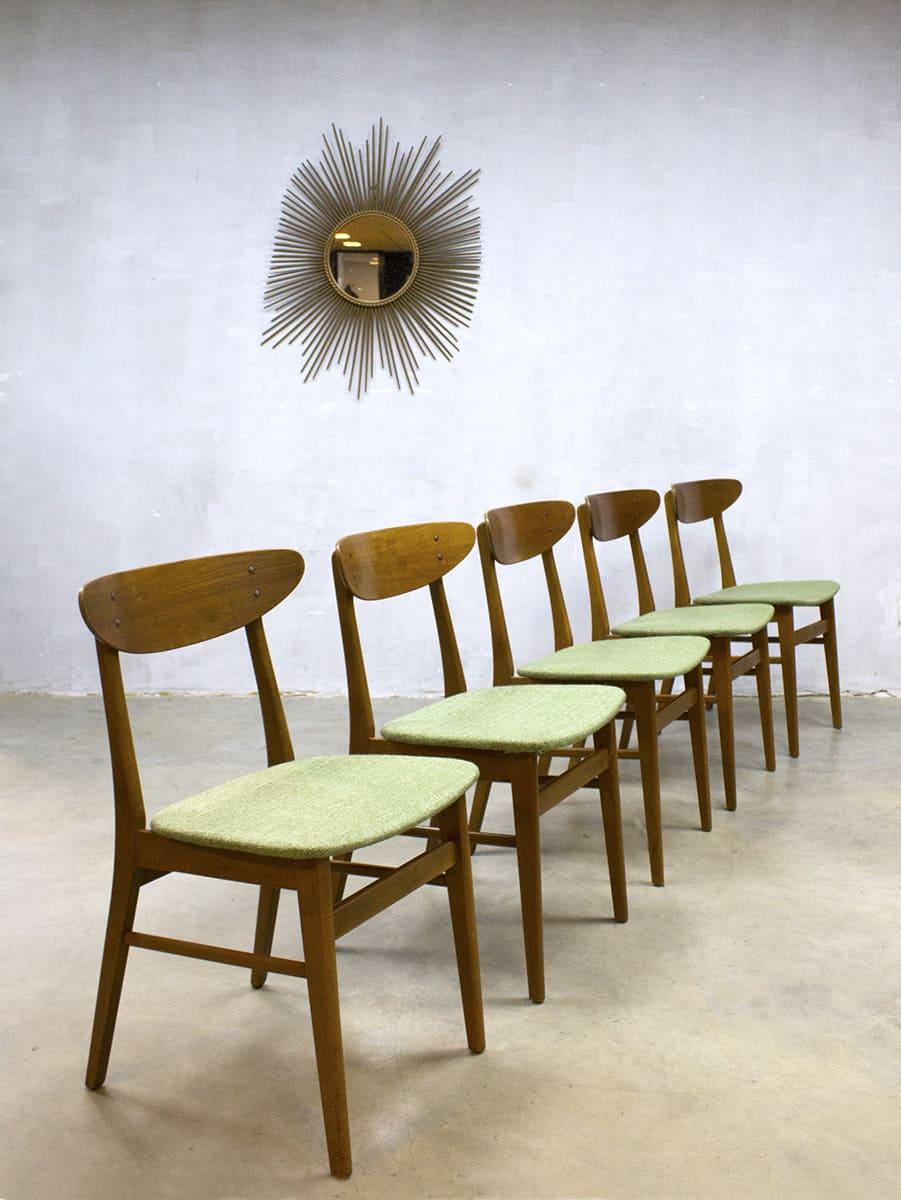 Vintage danish dinner chairs farstrup m bler eetkamerstoelen for Eetkamerstoelen deens design