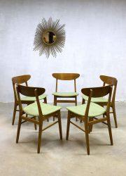 Vintage Danish dinner chairs Farstrup Møbler eetkamerstoelen