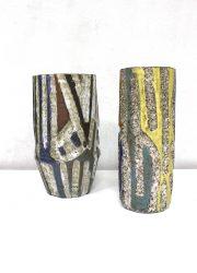 Vintage ceramic vase pottery mid century vazen keramiek
