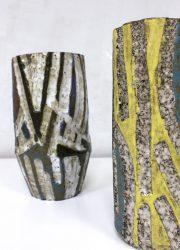 vintage vaas vazen abstract art midcentury vase ceramic pottery