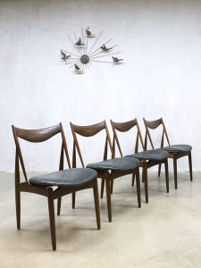 Vintage design Kurt Ostervig sculptural dinner chairs eetkamerstoel