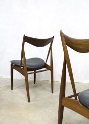 midcentury modern minimalism chair scandinavian design Niels Vodder Finn Juhl dinner chair dining chairs