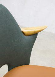 Vintage Dutch design dinner chairs Stevens eetkamerstoelen