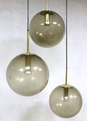 mid century modern pendant hanglamp bollamp Glashutte Limburg vintage design