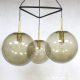 Vintage glazen bol lamp hanglamp pendant Glashütte Limburg