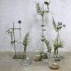 Vintage Industrial laboratory stands vases glass, Laboratorium vazen fles