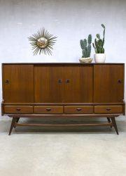 Vintage Webe dressoir kast Louis van Teeffelen highboard bar cabinet