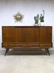 Vintage Webe dressoir kast Louis van Teeffelen highboard bar cabinet