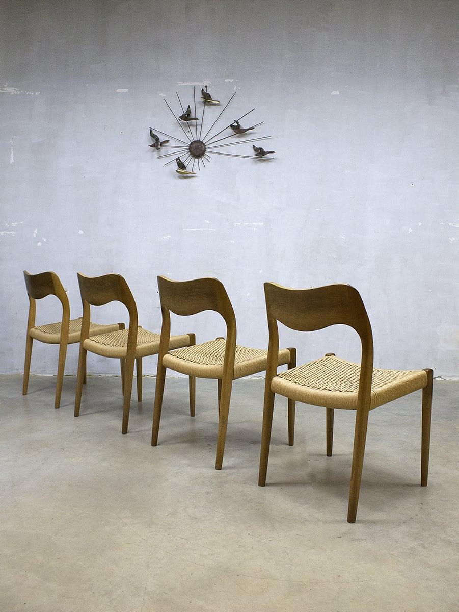 Vintage deens design niels o m ller dinner chairs for Eetkamerstoelen deens design