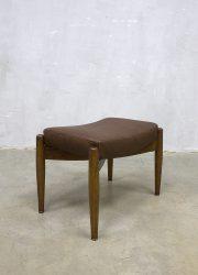 ottoman hocker vintage design Danish voetenbank poef