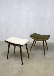 Scandinavian design ottoman stools mid century poef