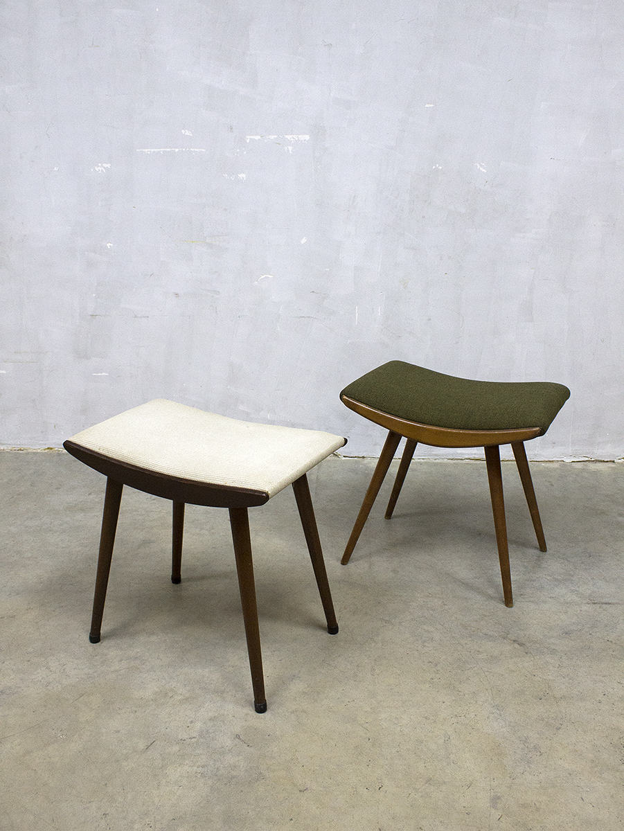 vintage scandinavian hocker stool ottoman mid century. Black Bedroom Furniture Sets. Home Design Ideas