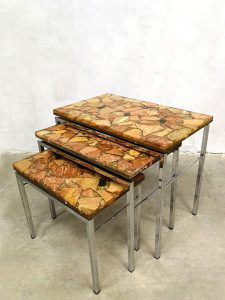 Vintage design nesting tables mimiset bijzettafels sparkle