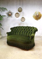 vintage velvet sofa velours lounge bank