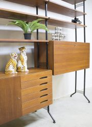 vintage wandkast kast retro midcentruy modern cabinet wall unit sixties