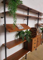 Vintage design modulair wandsysteem wall unit Olof Pira