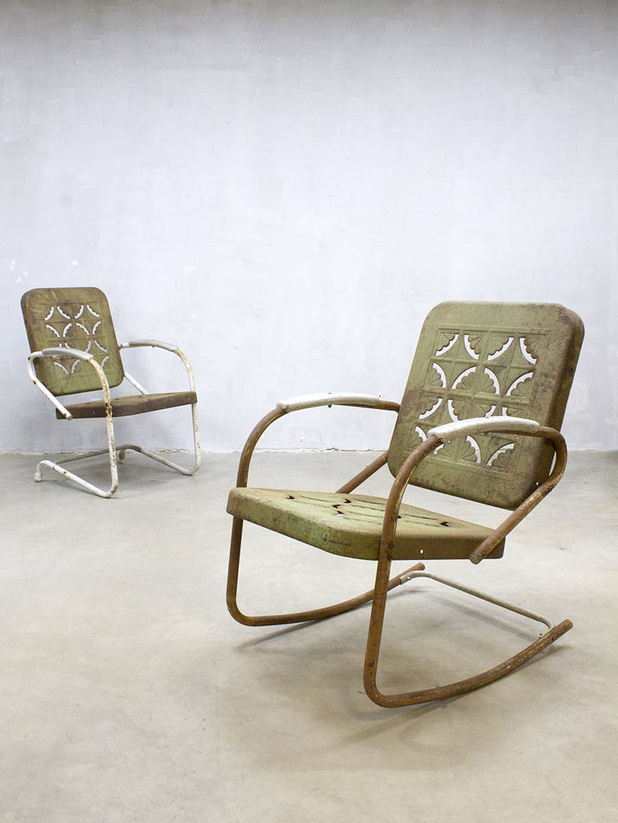 Vintage Metal Lawn Chair Patio Outdoor