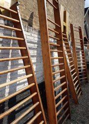 vintage climbing rack gymrek klimrek wood beech beuken hout