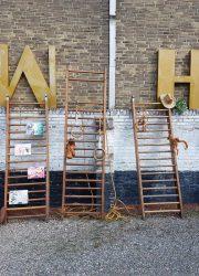 industrieel gymrek klimrek climbing rack rack vintage gym ladder