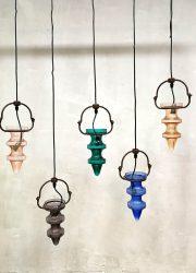 Vintage colored glass stalactite chandelier Nanny Still McKinney Raak