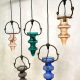 Vintage colored glass stalactite pendant lamp Nanny Still McKinney Raak