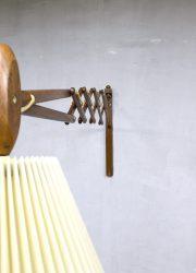 vintage schaarlamp deens Kaare Klint Danish scissor lamp wall lamp