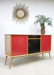 Vintage wandkast cubism midcentury design sideboard dressoir