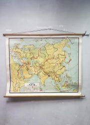 Vintage landkaart wereldkaart worldmap earth globe