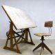 Vintage Ahrend de Cirkel drawing table industrial tekentafel