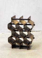 minimalism Scandinavian design wine rack wijnrek Formträ AB honeycomb