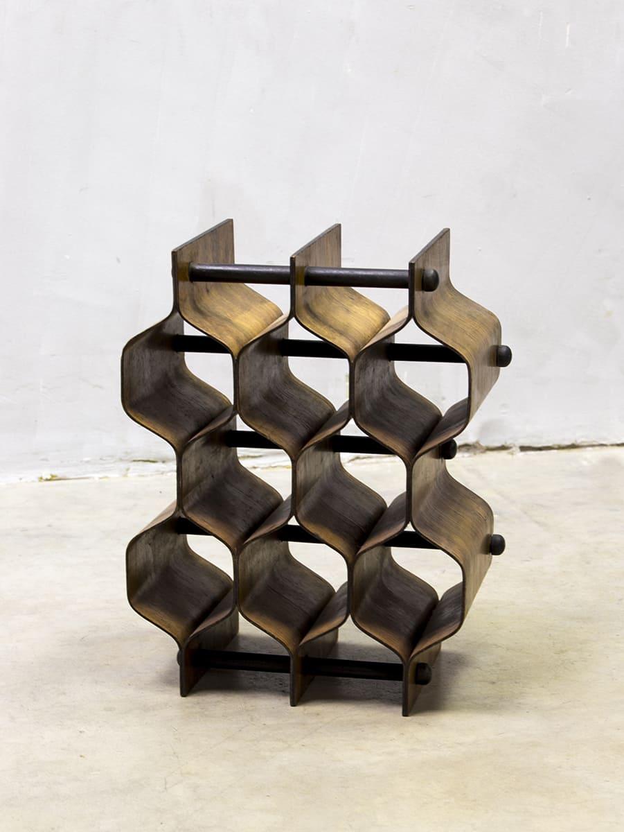 midcentury modern design wine rack torsten johansson wijnrek. Black Bedroom Furniture Sets. Home Design Ideas