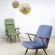 Vintage design velvet arm chairs Akerblom lounge fauteuils Zweden