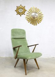 vintage lounge chair velvet Akerblom Sweden design