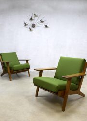 vintage lounge set bank fauteuil Hans Wegner plank chair Scandinavian design