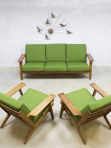 Vintage lounge set sofa Hans Wegner Getama bank fauteuil GE290