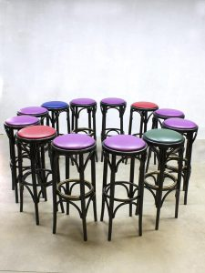 Vintage barkrukken café bistro barstool stools Thonet