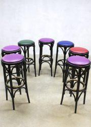 vintage krukken kruk partij barstools stool Thonet fifties kruk