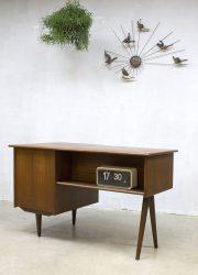 midcentury modern vintage design desk bureau teakhout Deens