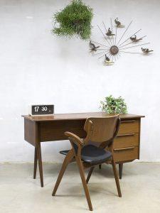 Mid century vintage design desk Danish bureau Deens