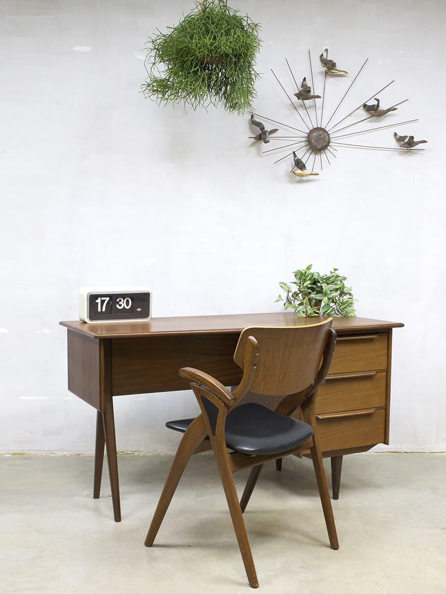 Mid century vintage design desk danish bureau deens for Design retro esstisch scandinavia