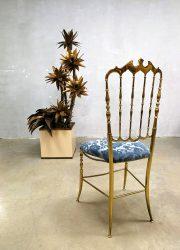 sixties seventies vintage design stoel eetkamerstoel gold Chiavari chair