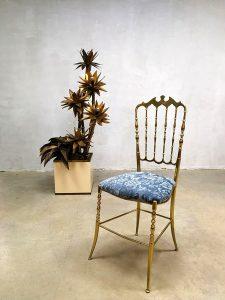 Vintage brass chair Italian Chiavari mid century design stoel
