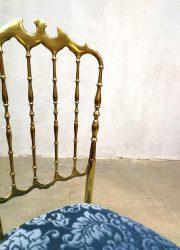 midcentury modern brass chair Chiavari Italian design