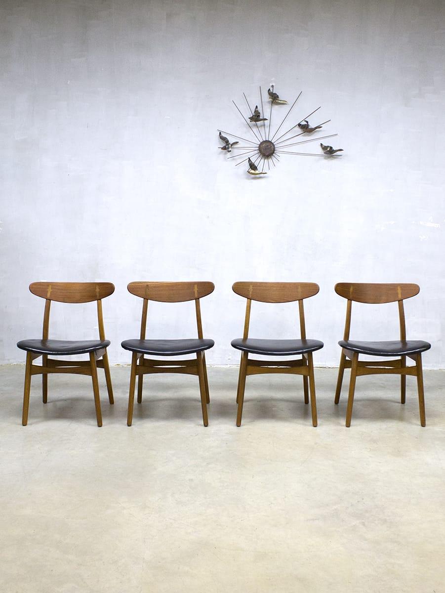 Vintage design dinner chairs eetkamer stoelen Hans Wegner CH30