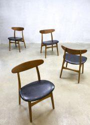 vintage dinner chairs chair Hans Wegner Danish design