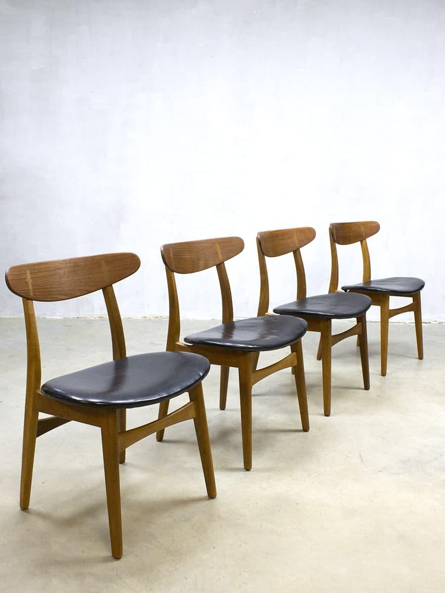 Vintage Design Eetkamerstoelen.Vintage Design Dinner Chairs Eetkamer Stoelen Hans Wegner Ch30