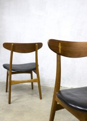 vintage eetkamerstoelen stoel Deens design midcentury modern CH30