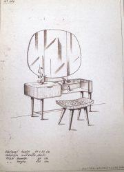 original marked Zijlstra Patijn dressing table kaptafel