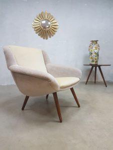 Deense vintage lounge fauteuil, vintage design easy chair armchair Danish